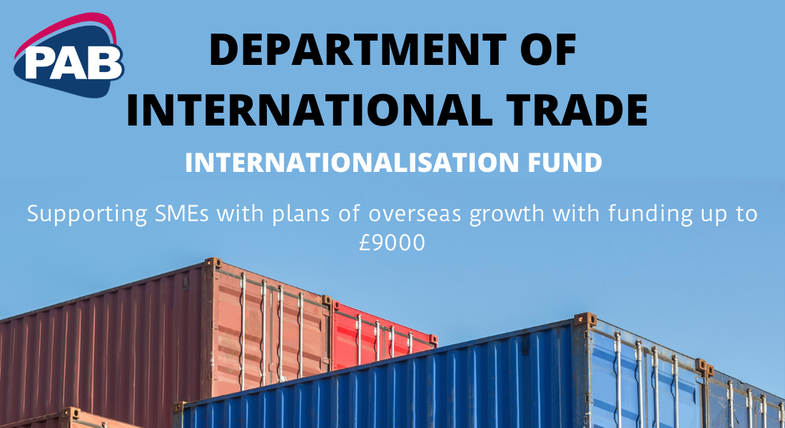 Internationalisation Funding for SMEs looking to expand overseas.
